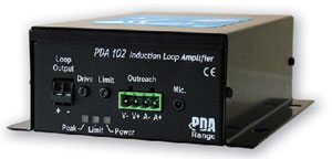 PDA102C 1.2m sq to 50m sq Induction Loop Amplifier